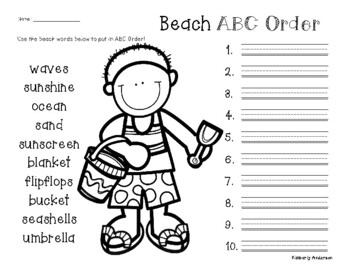 End of the Year - Beach - Summertime ABC Order