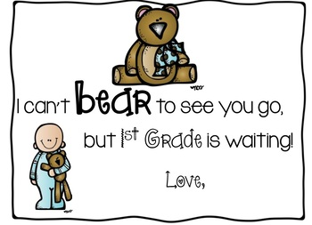 End of the Year Bear Tags