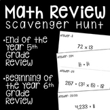 End of the Year/Beginning of the Year Math Scavenger Hunt