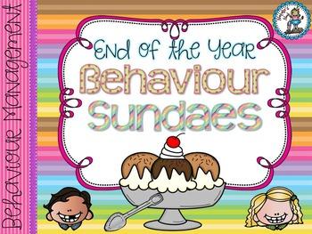 End of the Year Behaviour Sundaes {Behaviour Management Idea}