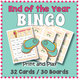 End of the Year Bingo Game: Summer Fun!