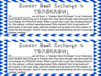 End of the Year Book Exchange