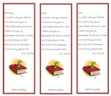 End of the Year Book Marks - Editable