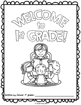 "End of the Year Activity:""Welcome to 1st Grade"" Book For Your Students Next Year"