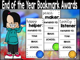 EDITABLE!!!!! End of the Year Bookmark Awards- Smiley Face