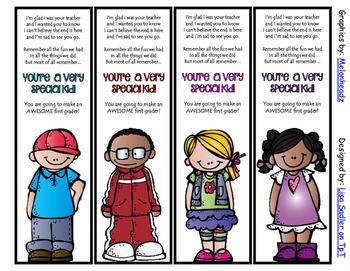 End of the Year Bookmarks - 4 Designs each Preschool thru 5th Grade