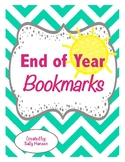 End of the Year Bookmarks FREEBIE