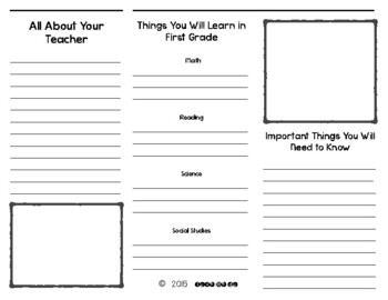 *UPDATED* End of the Year Brochure-1st grade edition