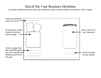 End of the Year Brochure