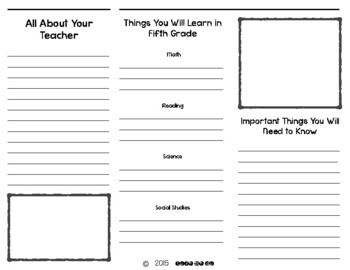 **UPDATED** End of the Year Brochure-5th grade edition-*Freebie*