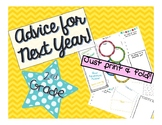 2nd Grade End of the Year Brochure - Advice for Future Stu