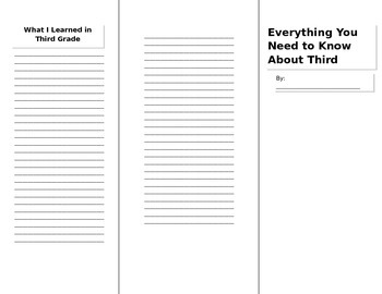 End of the Year Brochure Printable Template