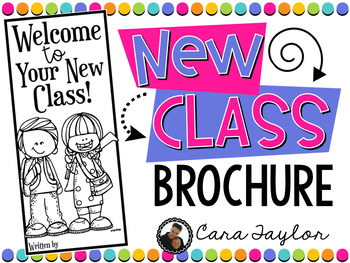 End of the Year Brochure to Next Year's Class