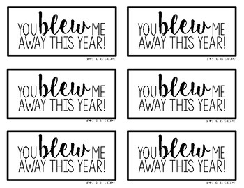 End of the Year Bubble Gift Tag
