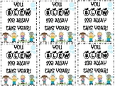 End of the Year Bubble Tags FREEBIE