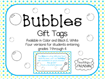 End of the Year Bubbles Tags