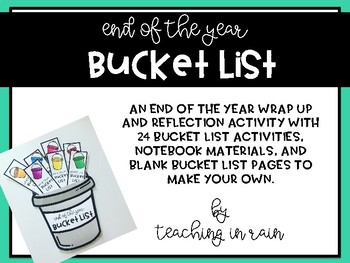 End of the Year Bucket List
