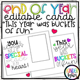 """End of the Year """"Buckets of fun"""" Editable card"""