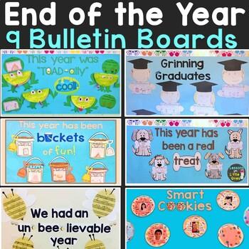 End of the Year Bulletin Board & Craftivities Kit Bundle 9 Craft & Display Ideas