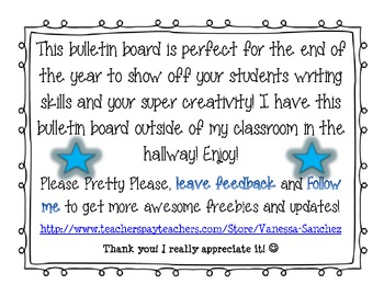 End of the Year Bulletin Board FREEBIE!