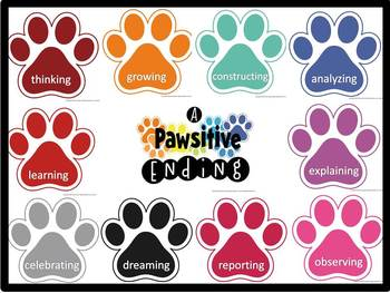 End of the Year Bulletin Board: PAWsitive Ending