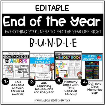 End of the Year Bundle & Time Capsule Activity with Editab