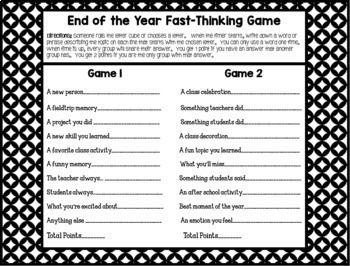 End of the Year Activities Bundle {2 Games, Memory Book, & Writing}