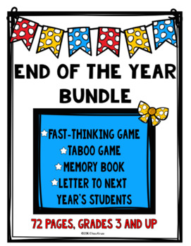 End of the Year Activities {2 Games, Memory Book, & Writing}