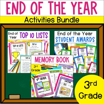 End of the Year Bundle- 3rd Grade- Memory Book, Awards and Top Ten Lists