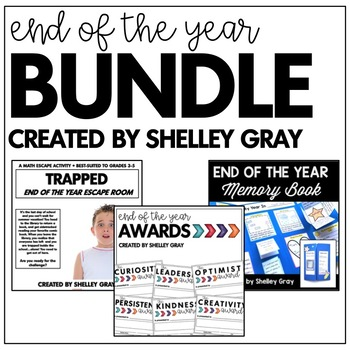 End of the Year Bundle | Escape Room, Memory Book, End of the Year Awards