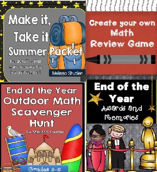 End of the Year Bundle- Four Great Must-Have Activities for Grades 3-4