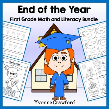 End of the Year Bundle for 1st grade Distance Learning