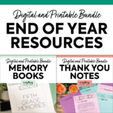 End of Year Activities   Memory Books   Thank You Notes   BUNDLE 3rd 4th 5th 6th