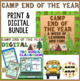 End of the Year Camp: Digital Distance Learning and Printable Bundle