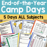 End of the Year Activities: Camping Days Unit for First an