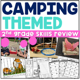 End of the Year | Camping Themed Activities | 2nd Grade | ELA | MATH | PBL