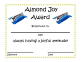 End of the Year Candy Award Certificates