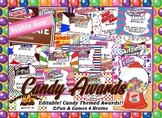 End of the Year Candy Awards - Editable - 40 different designs