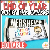 Editable End of Year Candy Bar Awards