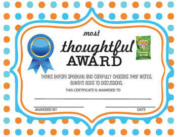 Candy Awards. Includes 30 ALL POSITIVE Awards.