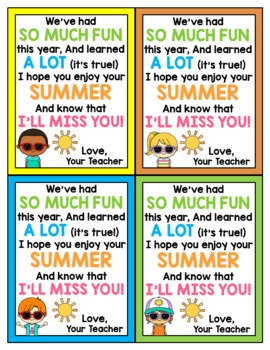End of the Year Cards for Students - Editable in color & black and white!