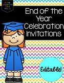 End of the Year Celebration Invitations: Editable!