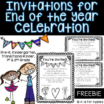 End of the year celebration invitations freebie by a is for apples end of the year celebration invitations freebie stopboris Choice Image