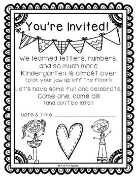 End of the Year Celebration Invitations! {FREEBIE}