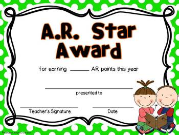 End of the Year Editable Certificate Awards