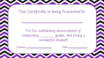 End of the Year Certificates!