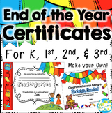 EDITABLE End of the Year Certificates