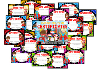 End of the Year Certificates (24 Superhero Awards)
