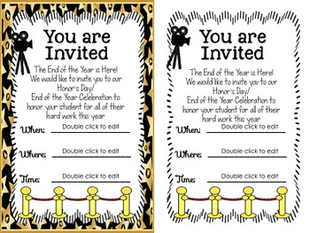 End of the Year Certificates, Honor's Day Awards, Oscar Theme