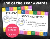 End of the Year Certificates   Spanish   PDF file